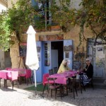 Small cafe in Uzes