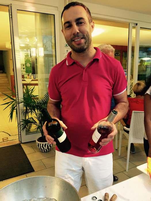 Federico at the Hotel San Salvador in Rimini