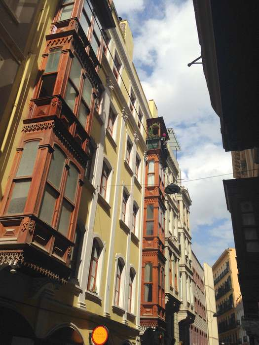 architecture of the Beyoglu district of Istanbul