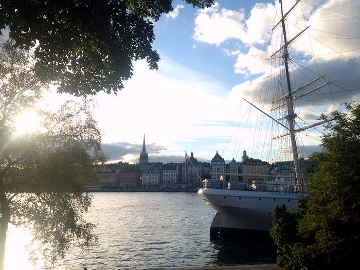 the banks of Skeppsholmen