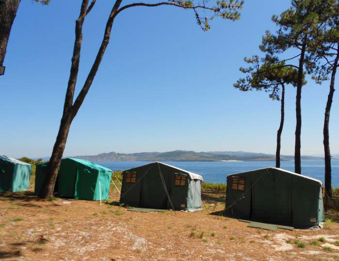 camping on Monteagudo, in the Cies Islands