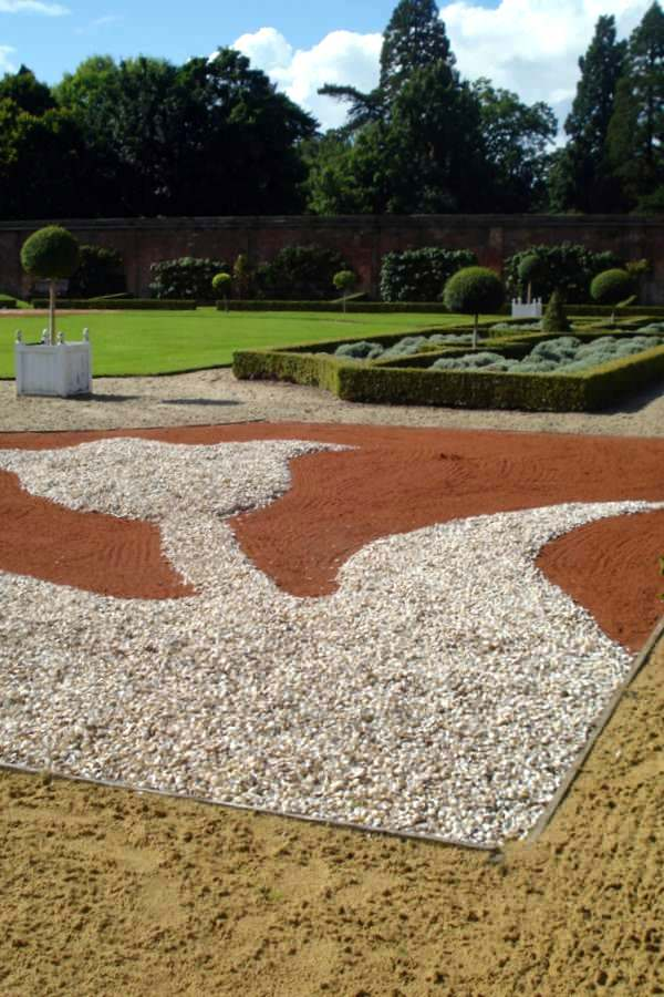 Shell work paths at Tredegar House
