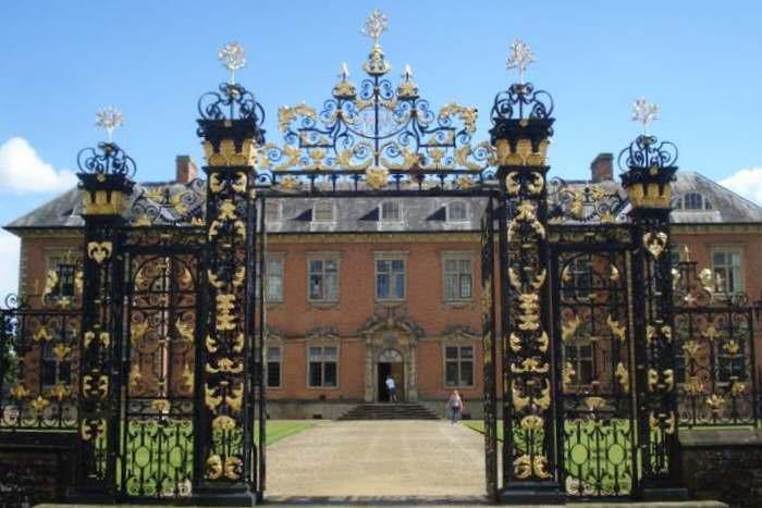 The ornate Edney Gates at Tredegar House
