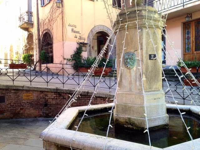 Decorated Fountain in Brisighella, Italy