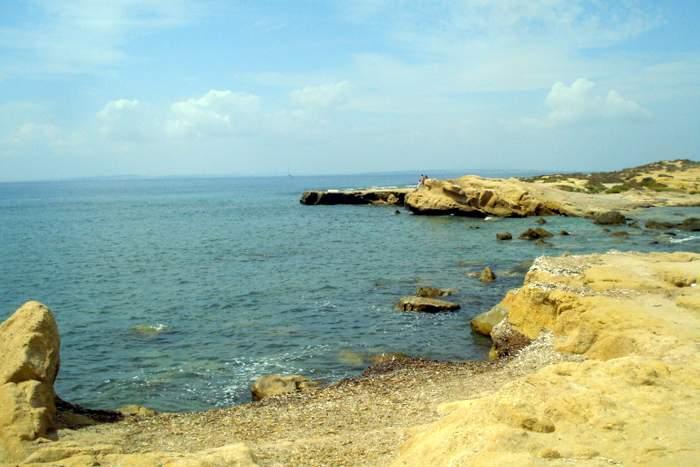 The barren shoreline of Tabarca