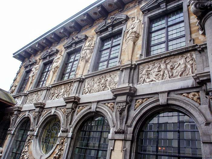 Exterior decorations on the Rubens House in Antwerp