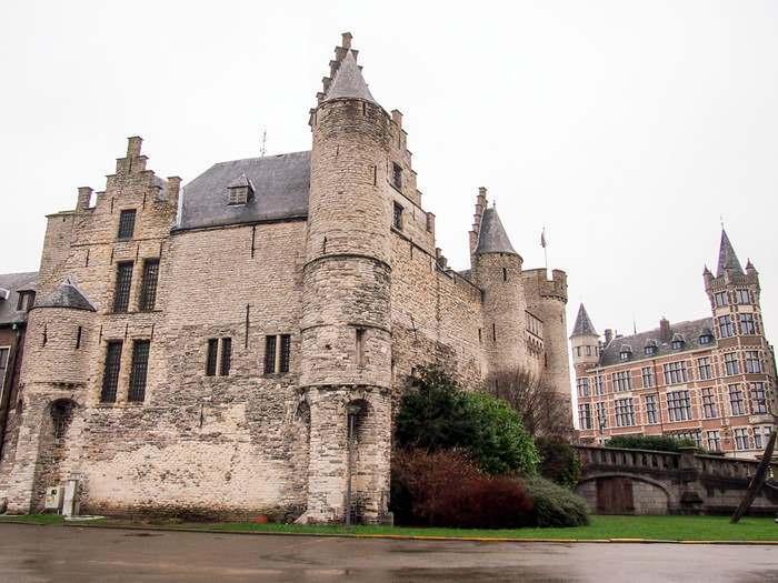 Het Steen castle is Antwerp's oldest building
