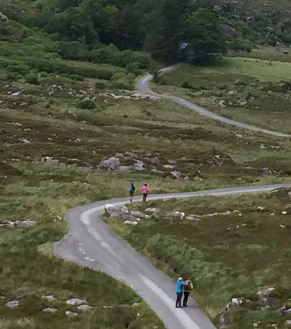 the Gap of Dunloe road