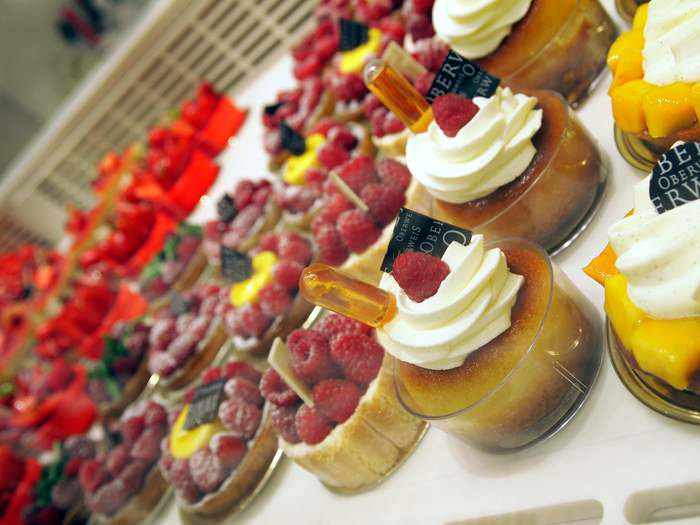 Pastries from Oberweis in Luxembourg a Benelux country