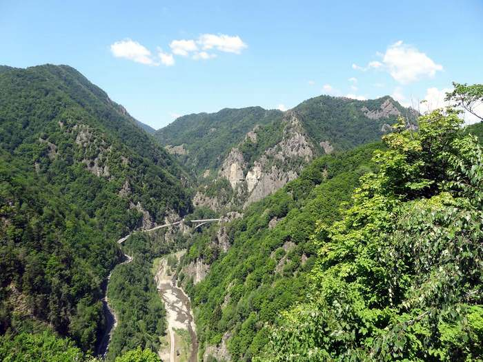 Spectacular views from Poenari castle walls
