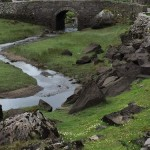 The Wishing Bridge spans the river running by the Gap of Dunloe road.