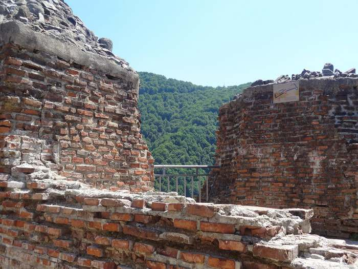 The spot at Poenari castle Where Vlad's wife allegedly jumped to her death