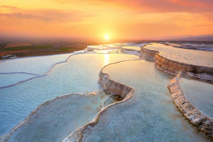 "The travertine terraces of Pamukkale one of Europe""s unique sights"