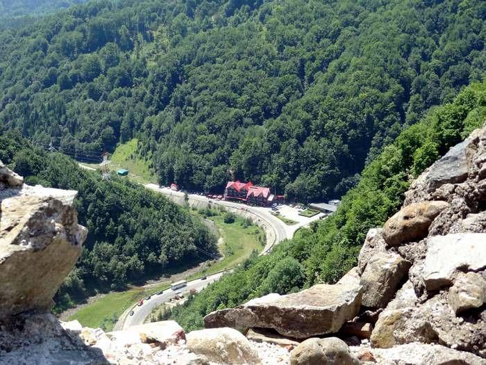 The road leading to Transylvania from Poenari Castle