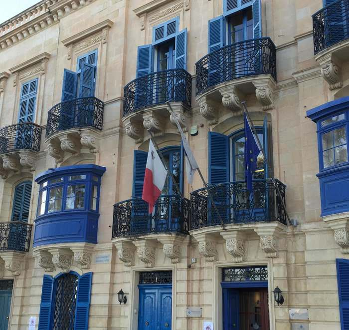 The architectural melange found in Valletta