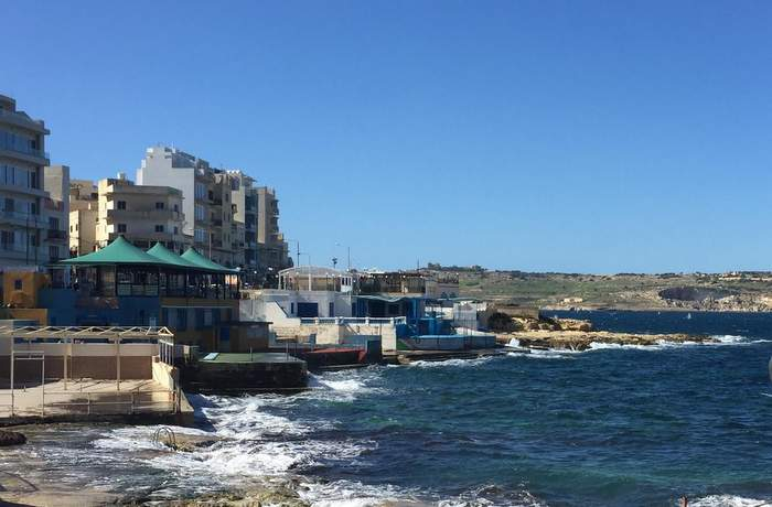 The town of Qawra in Malta's off season