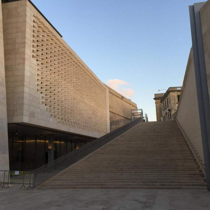 The modern steps of Renzo Piano's Valletta renovation