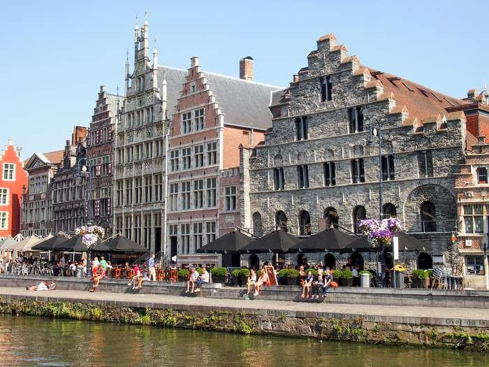 Medieval archicture, Graslei, Ghent
