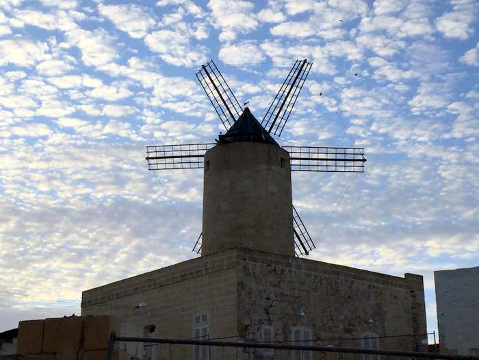 An iconic windmill of Malta