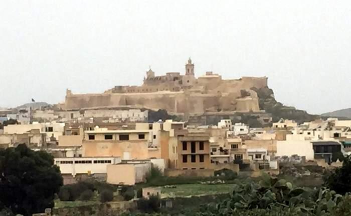 The Citadella, dominating Victoria's and Gozo's skyline