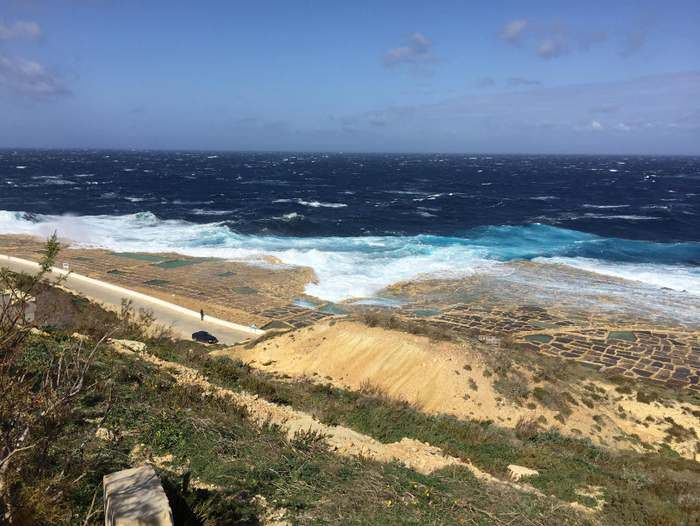 The salt flats of Gozo