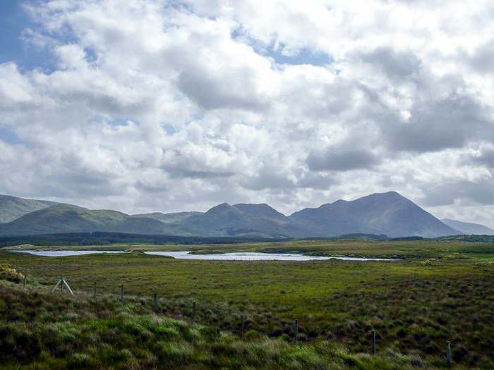 Peat bogs provide fuel for the locals in Connemara