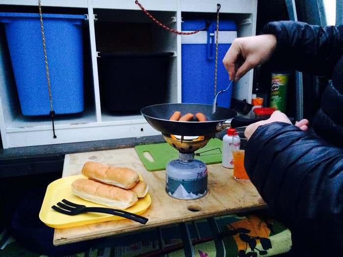 preparing your food is a fun way to enjoy Iceland in a camper-van