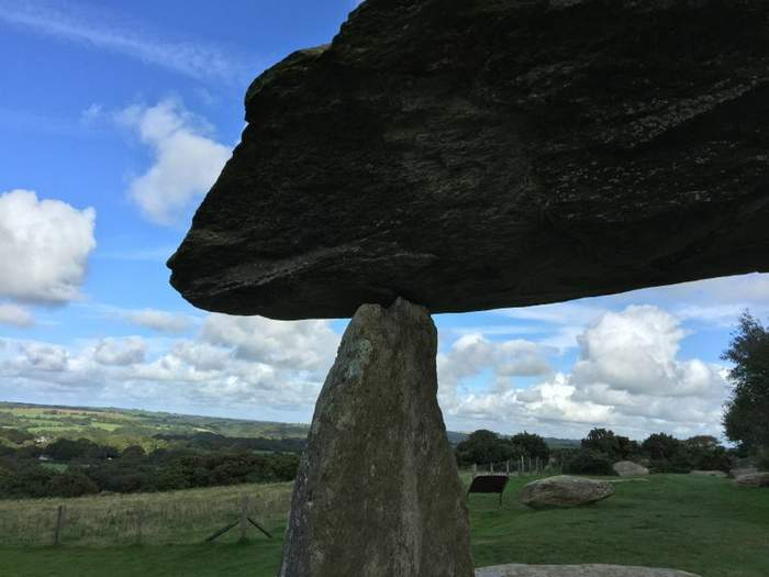 The capstone of Pentre Ifan dolmen weighs about 17 tons