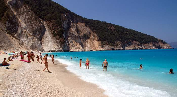 Greece's Myrtos Beach is one of the best beaches in Europe