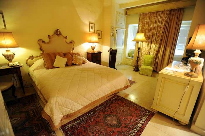 A room at the Xara Palace, elegant lodging in Malta