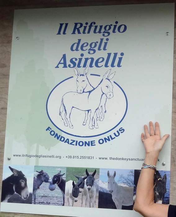 Entrance to Italy's Donkey Refuge