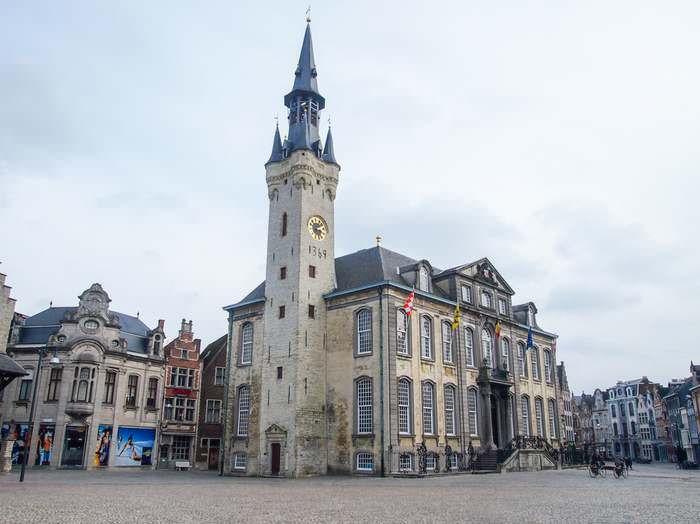 The Lier town hall and belfry