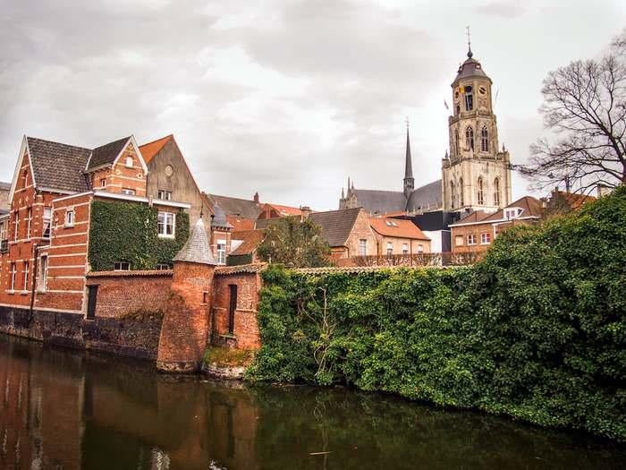 St. Gummarus' Church dominates the cityscape in Lier