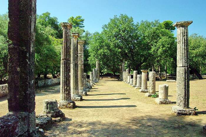 The Palaestra, exercise area for the competitors in Olympia
