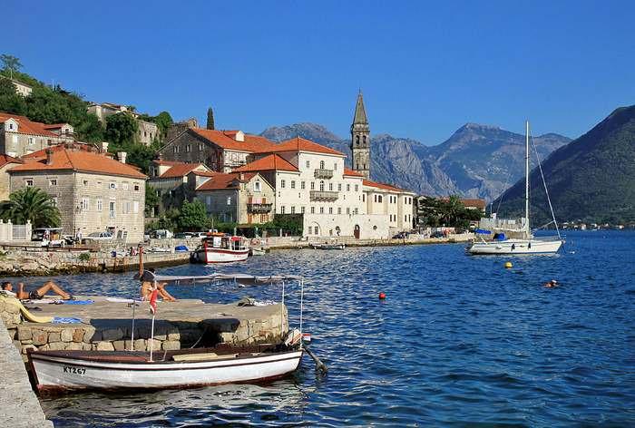Perast in the Bay of Kotor. Montenegro