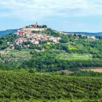 Stunning view of the hilltop town of Motovun in Istria