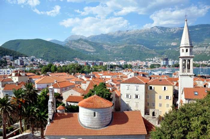 The beautiful city of Budva in Montenagro