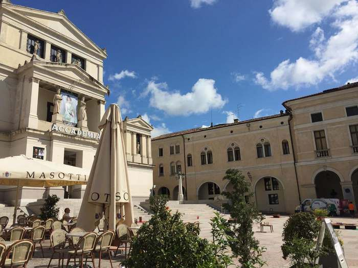 the main square of Conegliano