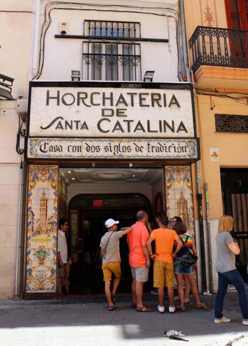 Horchateria Santa Catalina in Valencia