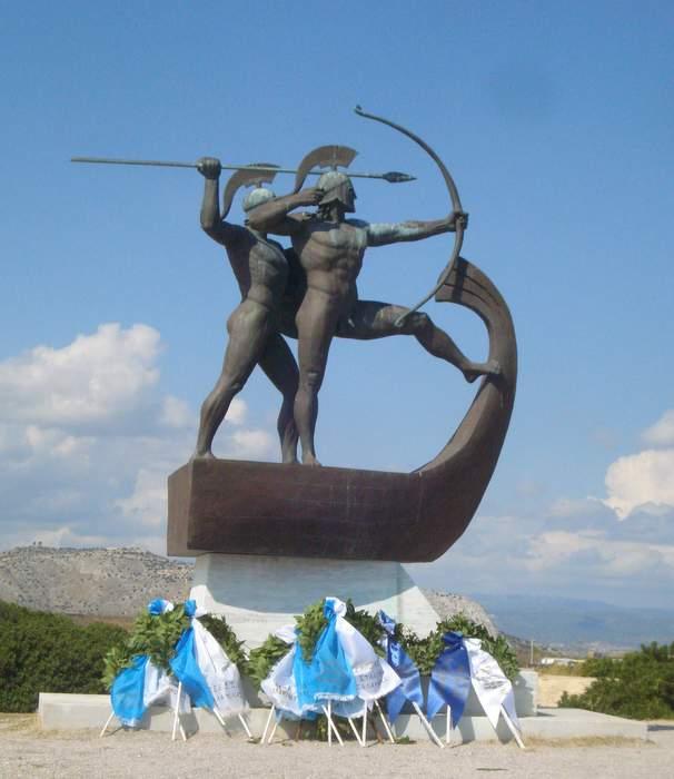 Monument to the battle of Salamis on Salamina Island