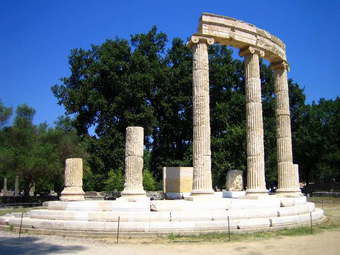 The Philiipeaon, a temple in Olympia, Greece