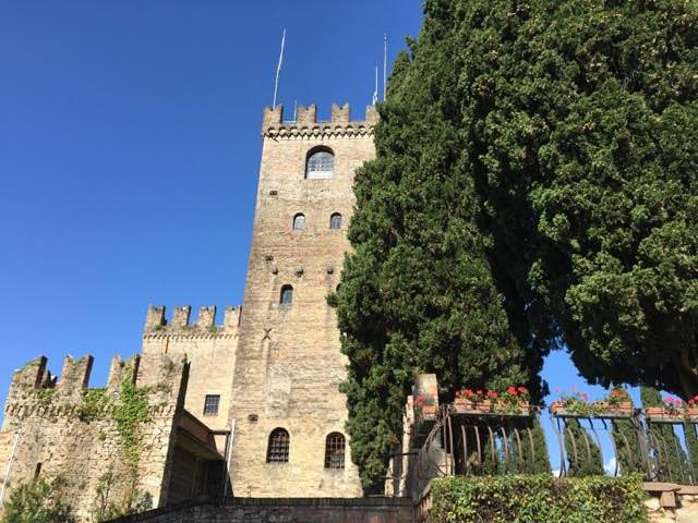 The still-imposing facade of the Castello di Conegliano