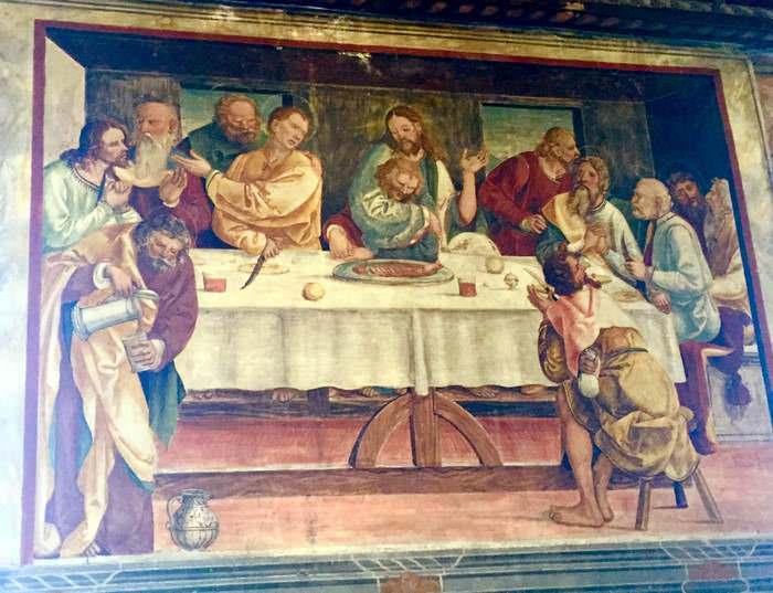 An atypical Last Supper in Conegliano