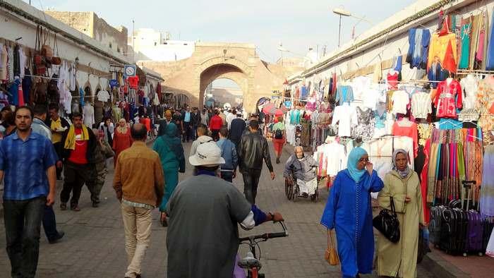 The main thoroughfare of Essaouira