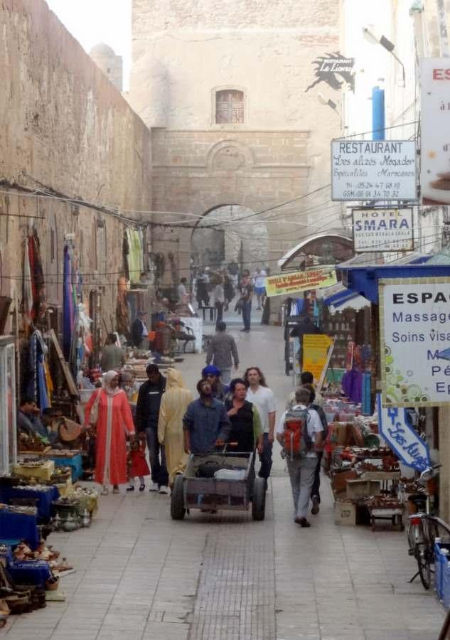 Rue de la Skala near the city walls in Essaouira