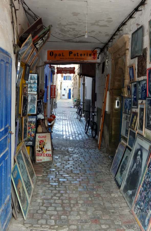 one of many galleries in Essaouira