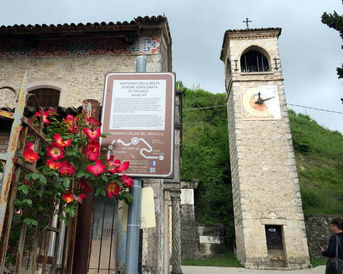 The Sanctuary of Collagù that you can see while sightseeing in the Veneto