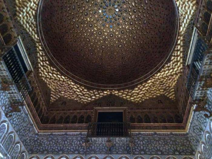 Domed ceiling of the Real Alcazar in Sevilla