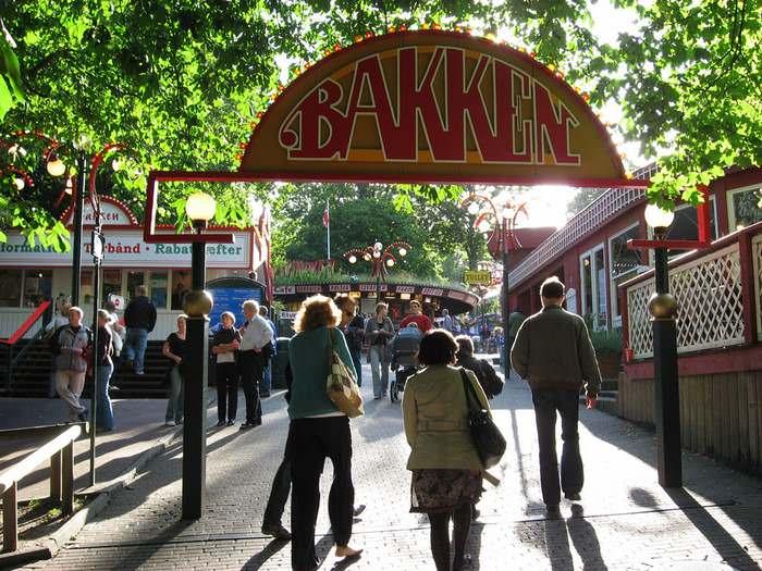 Bakken Amusement Park in Copenhagen