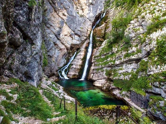 The Savica Waterfall near Bohinj